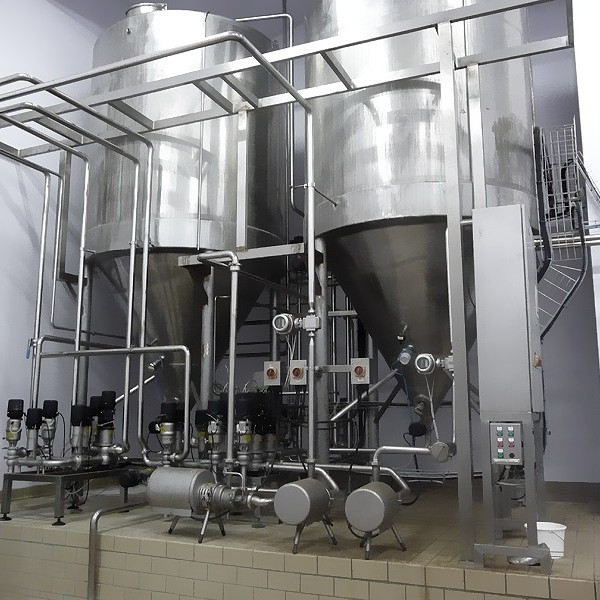 Preparation unit of milk mixtures