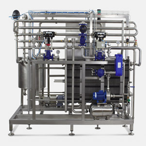 Semi-automatic cream pasteurization unit with a capacity of 3.000lit/h