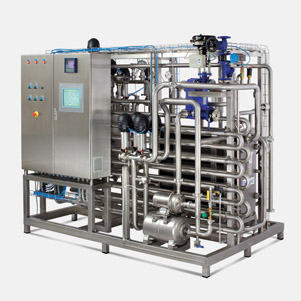 Automatic milk pasteurization unit with capacity of 5.000lit/h