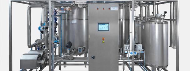 Νew CIP unit installation, in a big juice production industry.