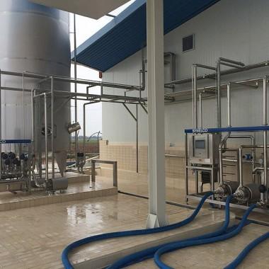 Raw milk reception unit